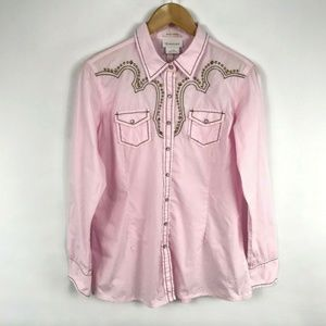Ariat Fitted Snap Button Shirt Pink